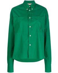 Plan C Рубашка Оверсайз С Длинными Рукавами - Зеленый