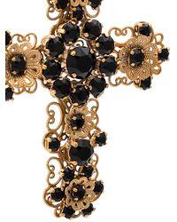 Dolce & Gabbana Embellished Cross Earrings - Metallic