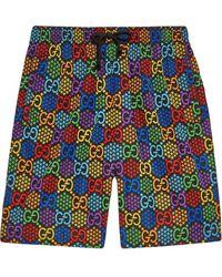 Gucci Zwembroek Met Print - Zwart