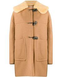 Marni Duffle-coat en peau lainée - Neutre