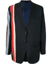 TOKYO JAMES Stripe Suit Jacket - Black