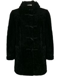 Saint Laurent Lammy Coat - Zwart