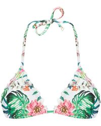 Amir Slama - Printed Triangle Bikini Top - Lyst