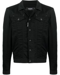DSquared² Logo-print Denim Jacket - Black