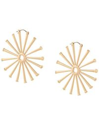 Tory Burch - Horseshoe Nail Hoop Earrings - Lyst