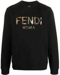 Fendi ロゴ スウェットシャツ - ブラック
