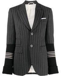 Neil Barrett Pinstripe Single-breasted Blazer - Grey