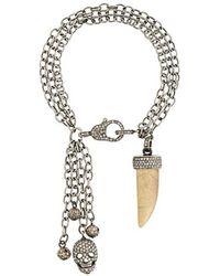 Loree Rodkin - Chain Charm Bracelet With Diamonds - Lyst