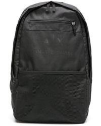 Armani Exchange ロゴ バックパック - ブラック