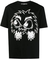 McQ Dropped Shoulder Monster Rally Black T-shirt