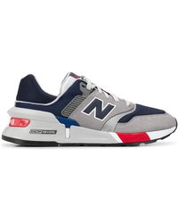 New Balance Sneakers Met Colourblocking - Grijs