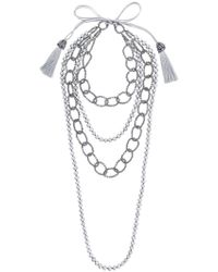 Night Market - Faux Pearl And Bead Layered Necklace - Lyst