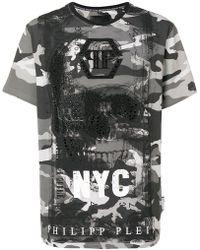 Philipp Plein - Camouflage Skull T-shirt - Lyst