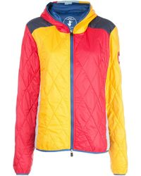 M Missoni Color Block Quilted Jacket - Blue