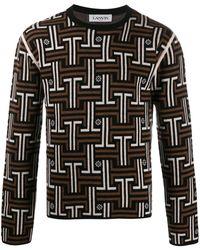 Lanvin ジャカード セーター - ブラウン