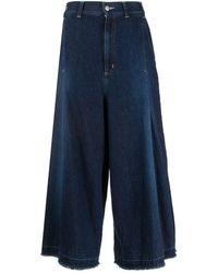Zucca High Rise Wide Leg Jeans - Blue