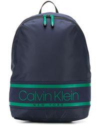 Calvin Klein Rugzak Met Logoprint - Blauw
