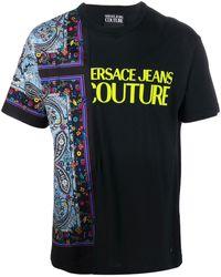 Versace Jeans Couture Футболка С Круглым Вырезом И Принтом Пейсли - Черный