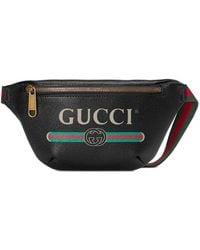 Gucci Riñonera pequeña con motivo - Negro
