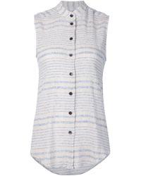 Rachel Comey - Camisa de rayas con efecto desgastado sin mangas - Lyst