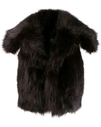 DSquared² Sleeveless Fur Gilet - Brown