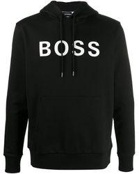 BOSS by Hugo Boss ロゴ パーカー - ブラック
