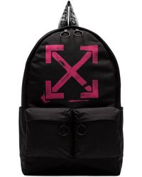 Off-White c o Virgil Abloh - Logo-print Canvas Backpack - Lyst 4e0be625ca816