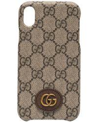 Gucci Funda para iPhone XR Ophidia - Marrón