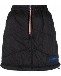 Aries Logo-patch Padded Mini Skirt - Black