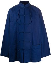 Yohji Yamamoto Relaxed-fit Jacket - Blue
