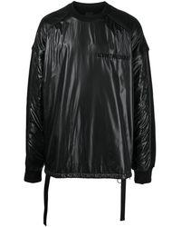 Juun.J ロゴ スウェットシャツ - ブラック