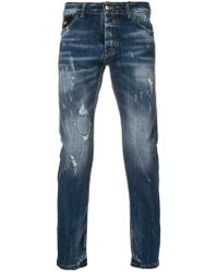 John Richmond | Distressed Faded Skinny Jeans | Lyst