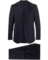 BOSS マイクロパターン スーツ - ブルー