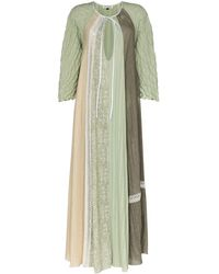 Masterpeace Panelled Lace Dress - Green