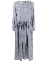 Sara Lanzi リーフプリント ドレス - マルチカラー