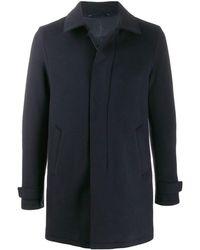 Herno Padded Wool Coat - Blue