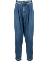 P.A.R.O.S.H. Denim Tapered Jeans - Blue