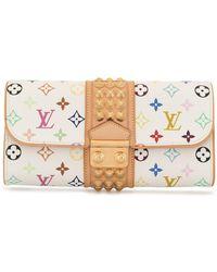 Louis Vuitton 2009 プレオウンド ポシェット コートニー モノグラム クラッチバッグ - ホワイト