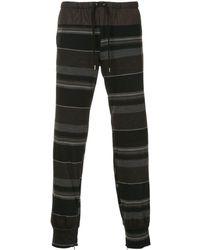 Kolor Striped Track Pants - Black