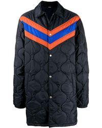 e917c4a18 Chevron Stripe Padded Jacket - Blue
