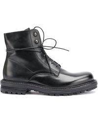 Officine Creative Military-Stiefel mit Schnürung - Schwarz