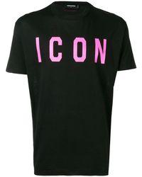DSquared² Camiseta Icon estampada - Negro