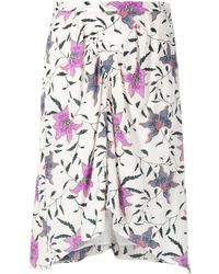 Étoile Isabel Marant Floral Print Asymmetric Skirt - Multicolour