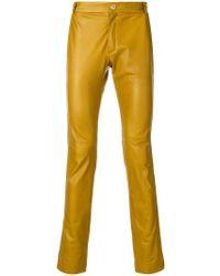 Qasimi - Slim Fit Leather Trousers - Lyst