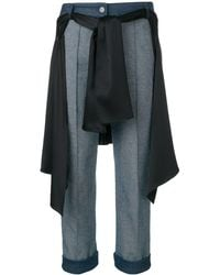 Hellessy Cropped Wrap-around Shirt Jeans - Blue