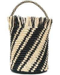 Sensi Studio Striped Bucket Bag - Multicolour