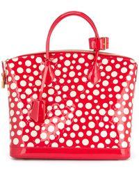 Louis Vuitton Bolso shopper Vernis Lockit - Rojo