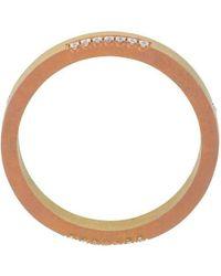 Ileana Makri Thin Band Ring - Pink