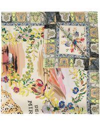 Etro Foulard en soie à motif cachemire - Multicolore