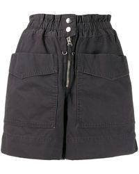 Étoile Isabel Marant Shorts cargo de talle alto - Negro